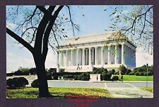 LMH Postcard  LINCOLN MEMORIAL White Marble Temple  WASHINGTON Sculpture  C11177