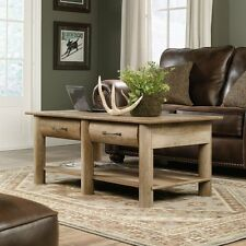 Sauder 416562 Boone Mountain Coffee Table With 2 Drawers In Craftsman Oak Finish