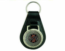 MINI COOPER S BLACK LEATHER KEYRING