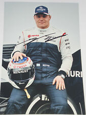 Julien bottas signé 12x8, F1 williams team portrait 2013.