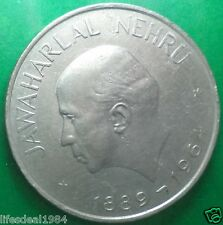one 1 rupee 1964 Calcutta kolkata mint Death Jawaharlal Nehru commemorative coin