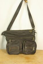 LIEBESKIND Germany Berlin Anny Safari Brown Pebbled Leather Crossbody Handbag
