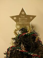 PERSONALISED CHRISTMAS TREE STAR FOR THE TOP OF YOUR XMAS TREE