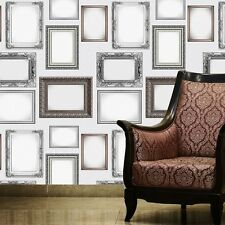 Black and White Large Traditional Frames Wallpaper by 1 Wall W10MFRAM01