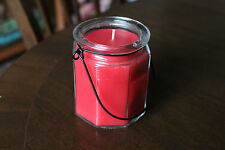 Brand New Octagonal jar candle, summer garden citronella scent hanging candle