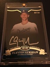 2012 Topps Tier One Tier 1 On The Rise Autograph Clayton Kershaw Silver Auto /10