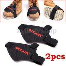 2x Motorcycle Shifter Cover Boot Shoes Protector Guard Protective Gear Black TPU