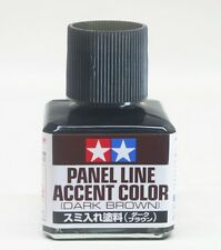 TAMIYA 87140 Panel Line Accent Color Dark Brown For Plastic Model Kit 40ml