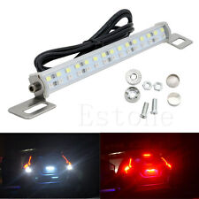 30LED 18W Car Bar Brake Tail Reverse Light Rear License Plate Lamp Red White