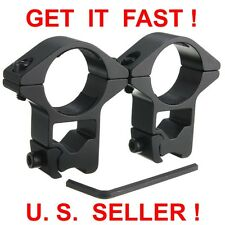 "1"" INCH HIGH PROFILE SEE-THROUGH SCOPE MOUNTS RINGS FOR 3/8"" (10/11mm) DOVETAIL"