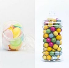 x10 500ml & 650ml Empty Plastic Sweet Jars Candy Buffet Wedding Storage Tea New