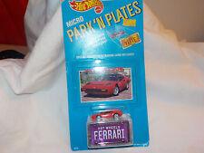 HOT WHEELS Micro Park 'n Plates Ferrari 308 Red  bin(10)
