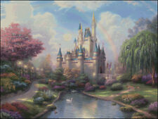 Needlework Crafts Full Embroidery Counted Cross Stitch Kit Cinderella Castle