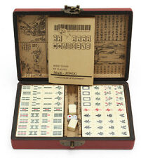 144 Tiles Mah-Jong Set Toy Vintage Mahjong Rare Chinese Game Free Shipping