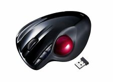 Brand New Sanwa MA-WTB43BK Wireless Trackball Mouse Laser Black Japan