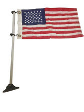 "Marine Pontoon Boat Flag S.S.Pole Socket  American  USA Flag 24"" Long Adjustable"