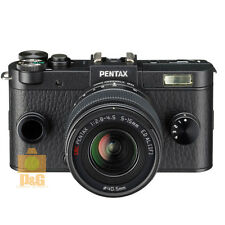NEW BOXED PENTAX Q-S1 QS1 CAMERA CHARCOAL BLACK + 02 5-15mm  LENS KIT