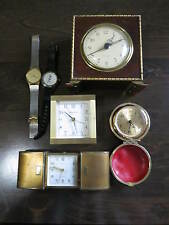 4 VINTAGE CLOCK  AND 2 WATCHES ,TIFFANY,SETH THOMAS ,PEPSI.......