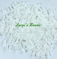 Opaque-Lustered White #121-TOHO Japanese Glass Seed Beads Bugle # 1 -3mm