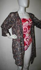 dgoodthings SUMMER: floral  tunic open front topper/cover-up for LARGE