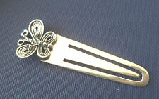 Attractive Sterling Silver Bookmark / Page Marker  - Butterfly