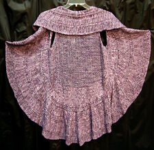 MARLED SEMI-SHEER OPEN WEAVE FRONT CROCHET CARDIGAN SWEATER VEST TOP~1X~0X~XL~