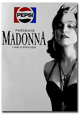 "Madonna Presente Like A Prayer Pepsi Advertising Fridge Magnet 2.5"" x 3.5"""