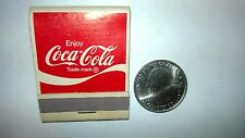 "OLD Vintage ""Enjoy COCA-COLA""  ""It's a Real Thing"" unused matchbook MADE IN USA"