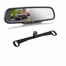 4.3″ Auto Adjust Brightness Rear View Mirror Monitor Dash Cam in + Rear Camera