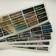 VOID IF REMOVED stickers , Hologram Stickers Warranty 100PCS 30*10mm