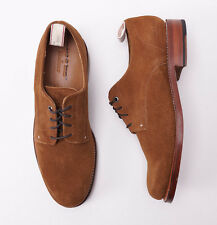 New $495 RAG & BONE by GRENSON Medium Brown Suede Laceup Derby 9 D Shoes