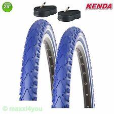 2 x Kenda Premium Fahrradreifen Blau + Schläuche 28 x 1.50 40-622 - 01022827K