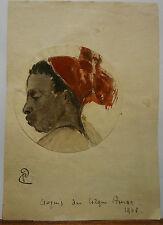 Dessin Original Aquarelle PAUL COUVREUR - Croquis du cirque Amar vers 1943- PC18