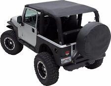 Smittybilt Extended Top in Durable Black Denim 1992-1995 Jeep Wrangler YJ 92915