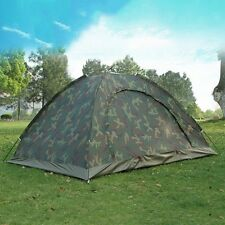 New Outdoor Camping Tent 2 Person Single Layer Camo Tent Travel Hiking Supplies