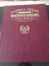 Arsenal FC titolo di giornale libro. NUOVO. BELLISSIMO