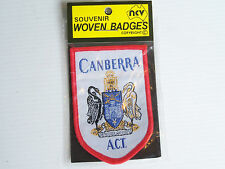 VINTAGE CANBERRA COAT OF ARMS EMBROIDERED SOUVENIR PATCH WOVEN CLOTH SEW BADGE