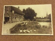 Postcard Cathedral and Old Mill, Salisbury