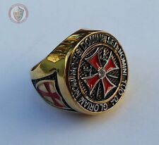 Templar Knights Ring - Gold & Silver Size 11 - (V½ - 64.6mm)