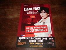 LIANE FOLY - FLYER CONCERT LIMOGES DECEMBRE 2008 !!!!!!