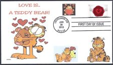GARFIELD  LOVE IS A TEDDY BEAR        FDC- DWc  CACHET