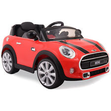 12V BMW MINI Electric Kids Ride On Car with MP3 Radio and Remote Control Red