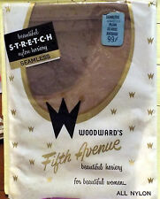Vintage-New Stockings Seamless Mesh Stretch TAUPE Size Average RHT Nylons NIP