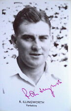 RAY ILLINGWORTH YORKS & ENGLAND SIGNED CRICKET POSTCARD