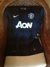 Men's Nike Authentic Dri Fit Manchester United Blue Short Sleeve Jersey Size L