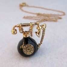 N45 B Betsey Johnson 3D Classic  Dial Telephone with Crystal Gem Necklace   US