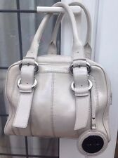 KAREN MILLEN PATENT LEATHER NUDE CREAM LARGE BOWLER HAND BAG HANDBAG MINT