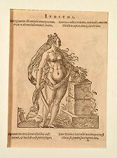Jost Amman Holzschnitt 1584 Iuditha Judith mit dem Schwert und Holofernes