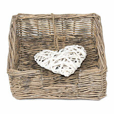 Napkin Holder Vintage BROWN Willow Love Heart Shabby Chic Serviette Dispenser