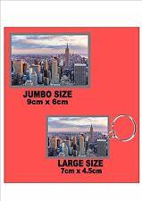 New York City USA Key Ring & Fridge Magnet Set